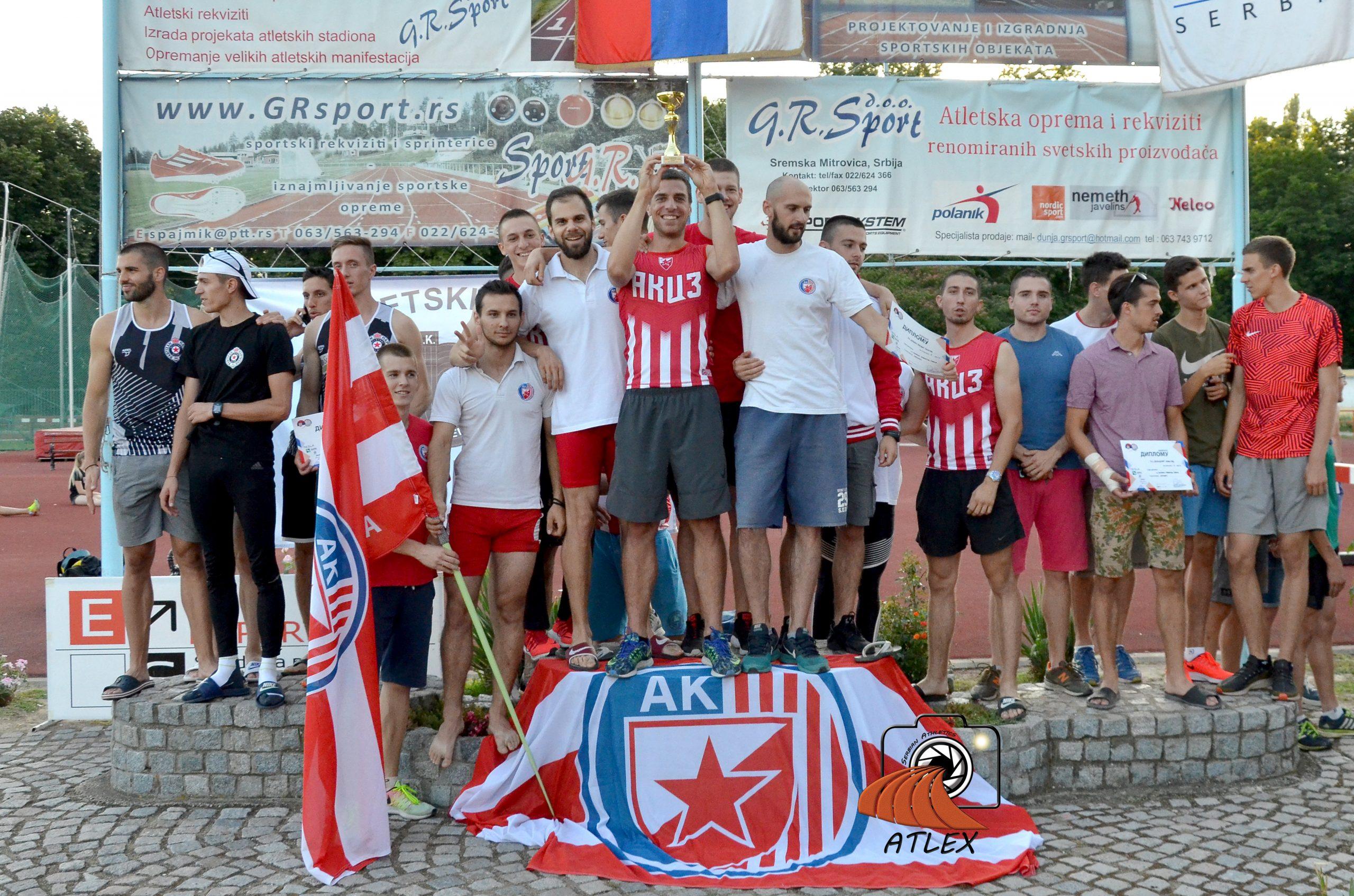 Atletičari Crvene zvezde prvakinje Srbije 2019.