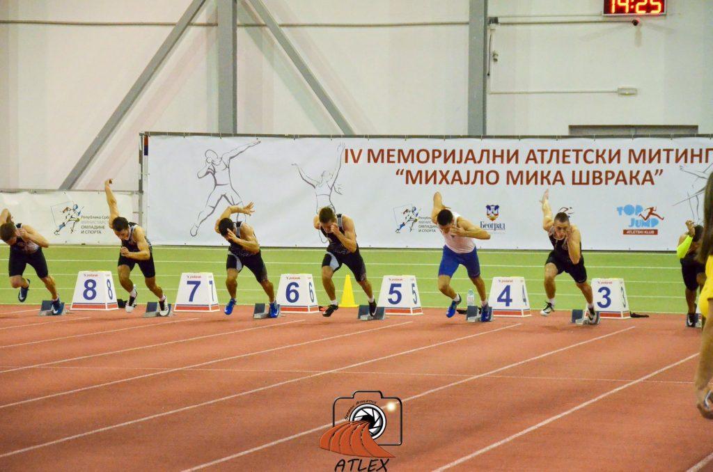 IV memorijal Mihajlo Mika Švraka, 60 metara muškarci
