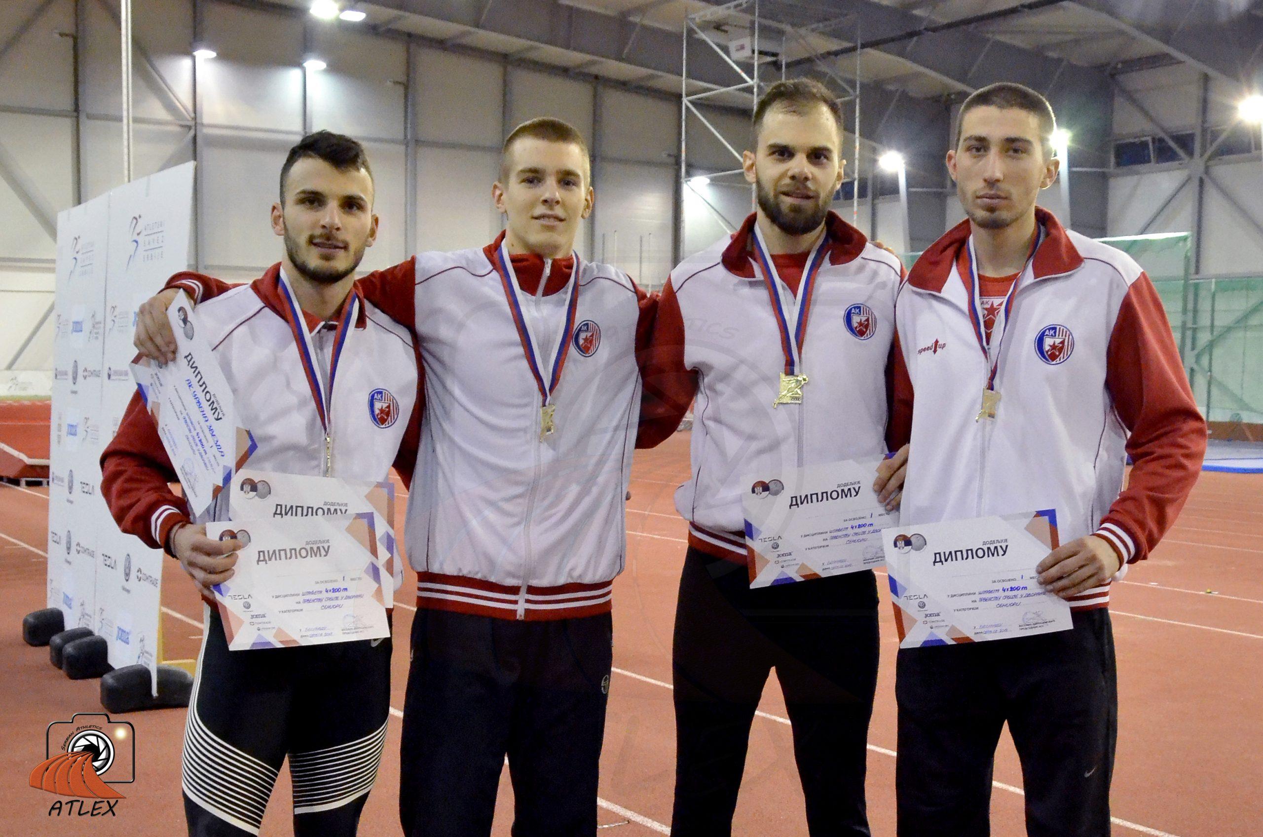 Muška štafeta AK Crvene zvezde državni rekorderi u štafeti 4x200m
