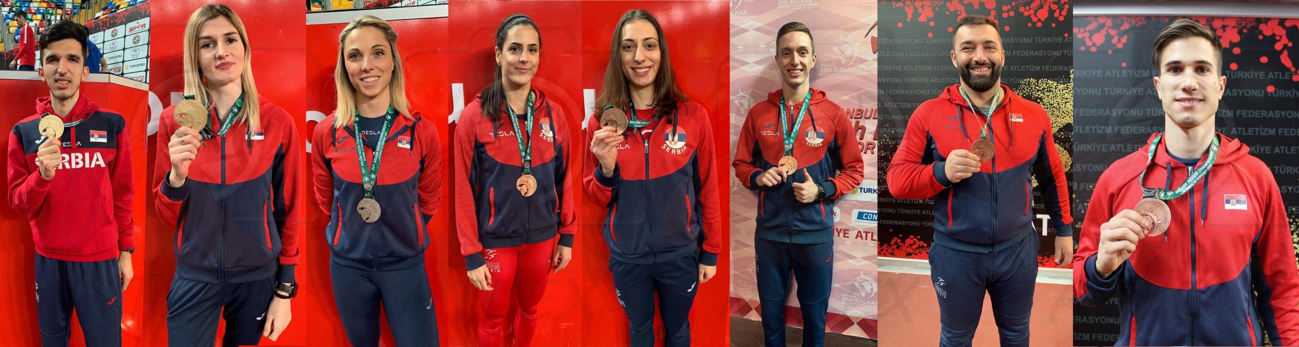 Osvajači medalja na dvoranskoj balkanijadi 2019