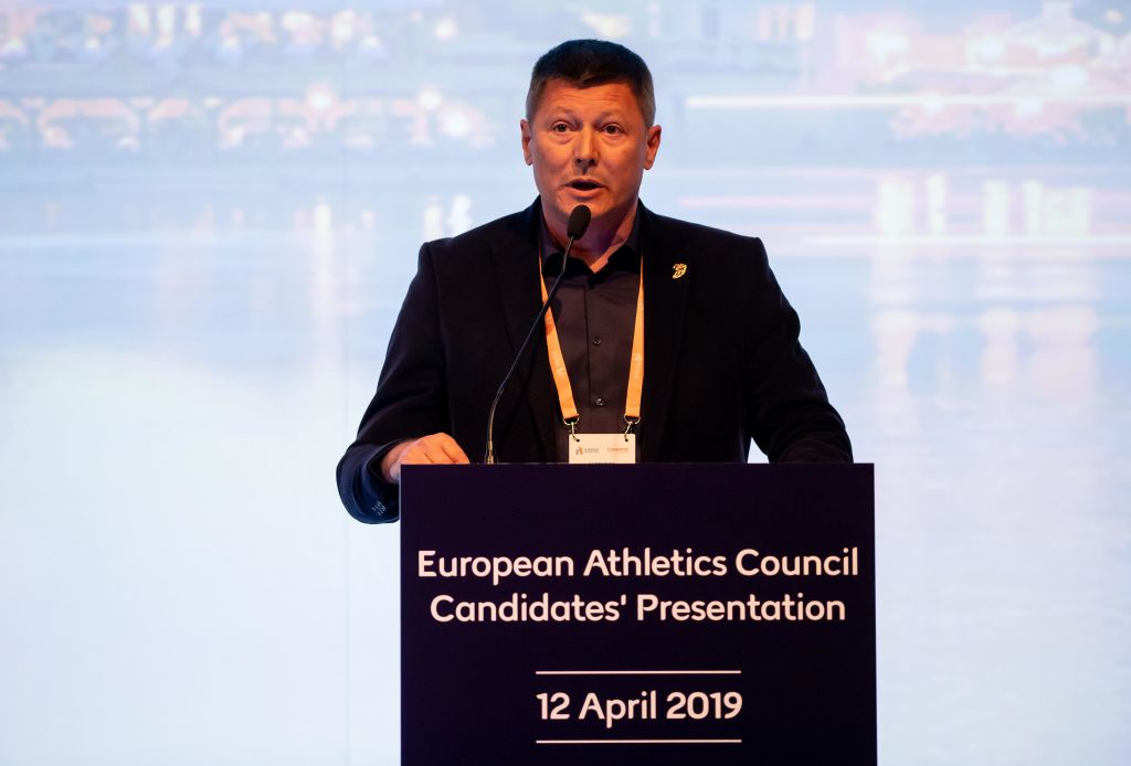 Slobodan Brankovic - obraćanje pre izbora za veće Evropske atletike