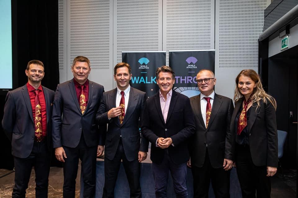 Srpska delegacija za dodelu organizacije dvoranskog Svetskog prvenstva 2022. Beogradu