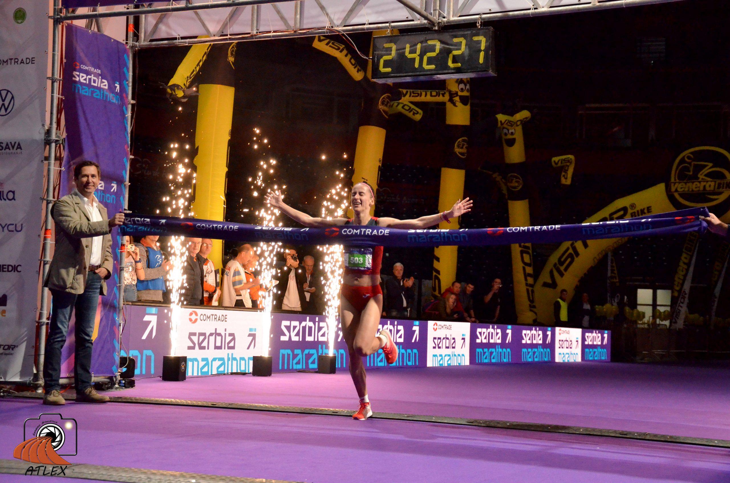 Teodora Simović - pobednica prvog Comtrade Serbia Marathon-a