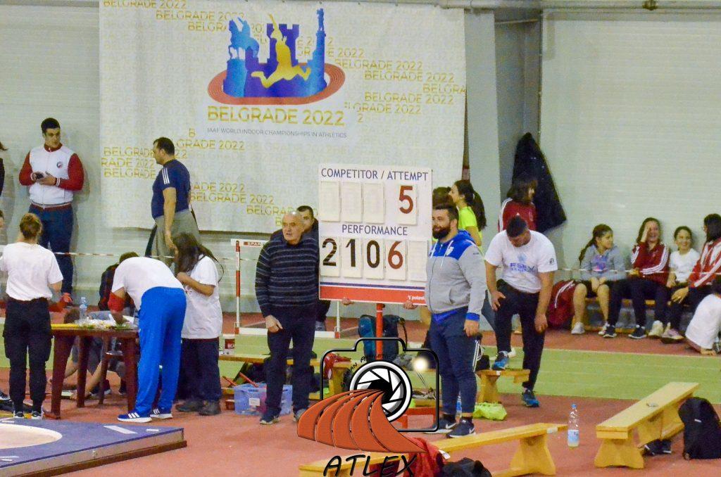 Asmir Kolašinac 21,06m, rekord Srbije
