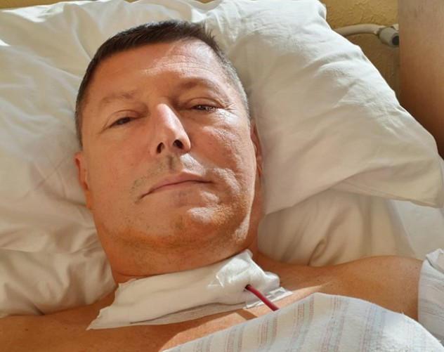 Slobodan Branković, operacija kancera štitne žlezde