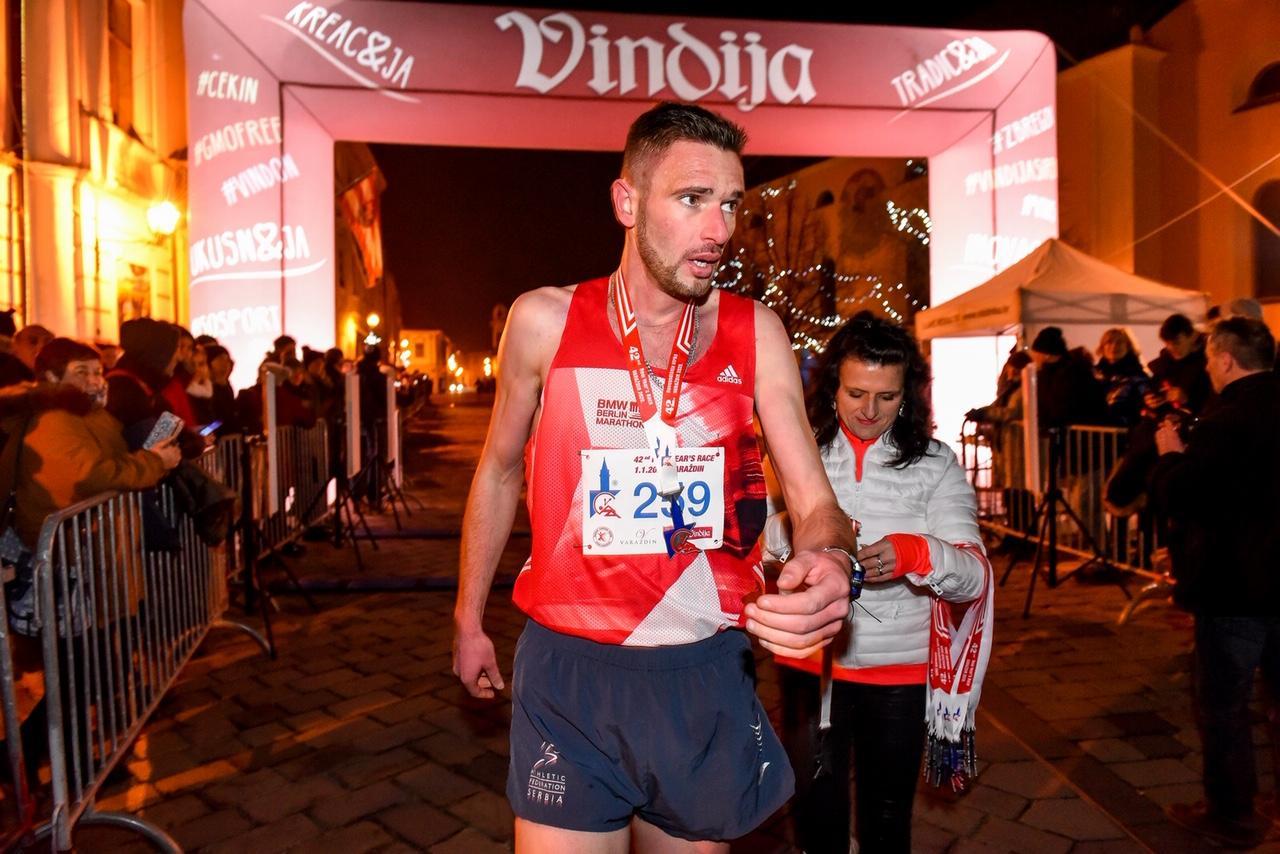 Milan Mitroić osvajač srebrne medalje na 42. Novogodišnjoj trci u Varaždinu