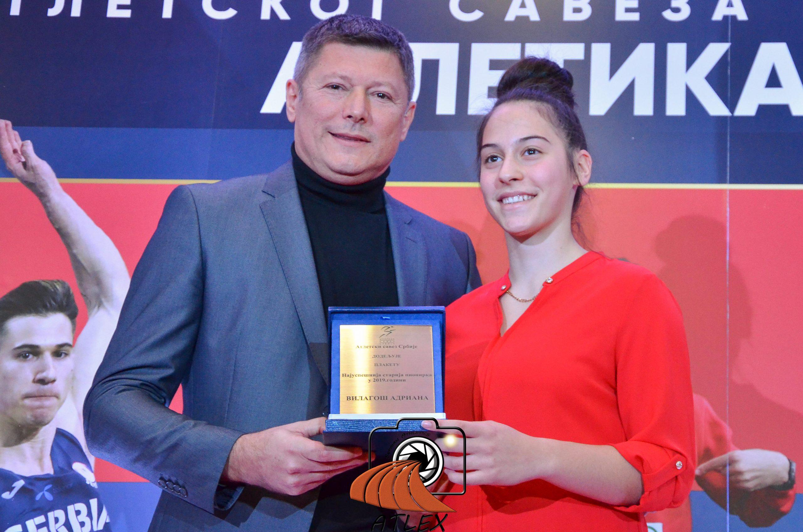 Adriana Vilagoš najboljaatletičarka Srbije 2019.