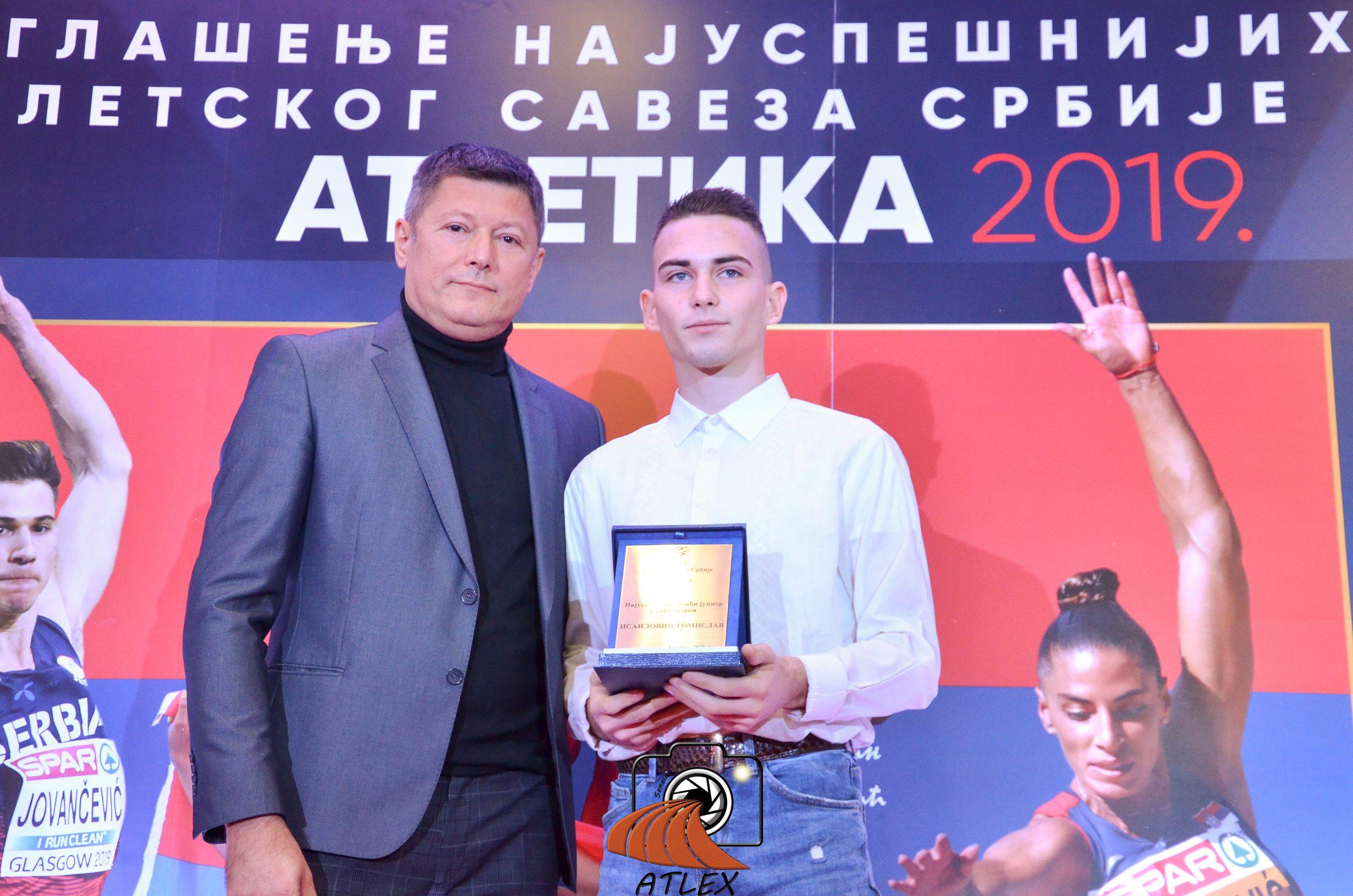 Tomislav Isailović, najbolji mlađi junior Srbije u 2019.
