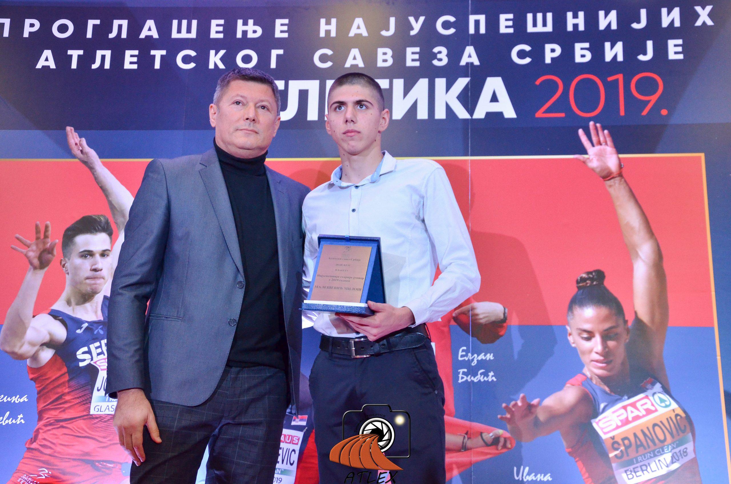 Miloš Malešević, najbolji junior Srbije u 2019.