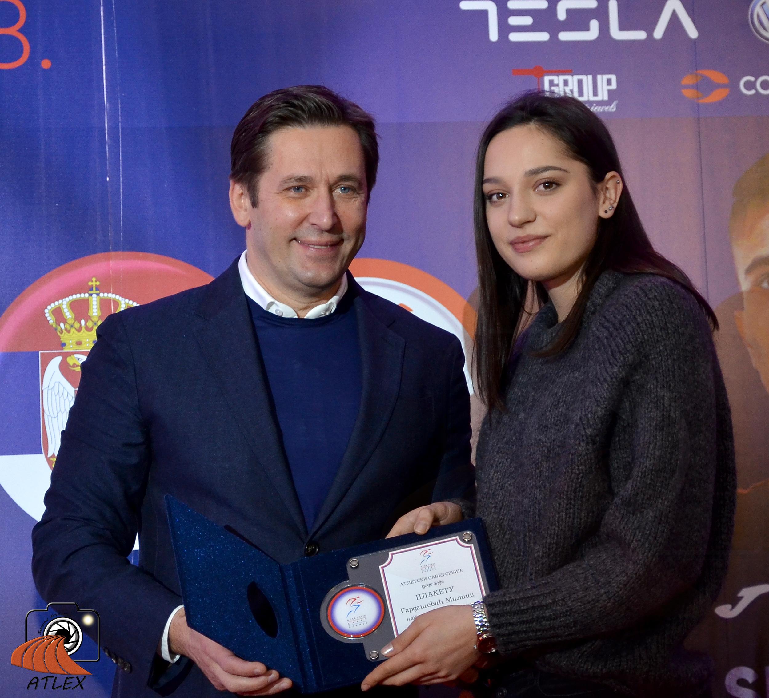 Milica Gardašević, najbolja mlađa saeniorka Srbije u 2018.