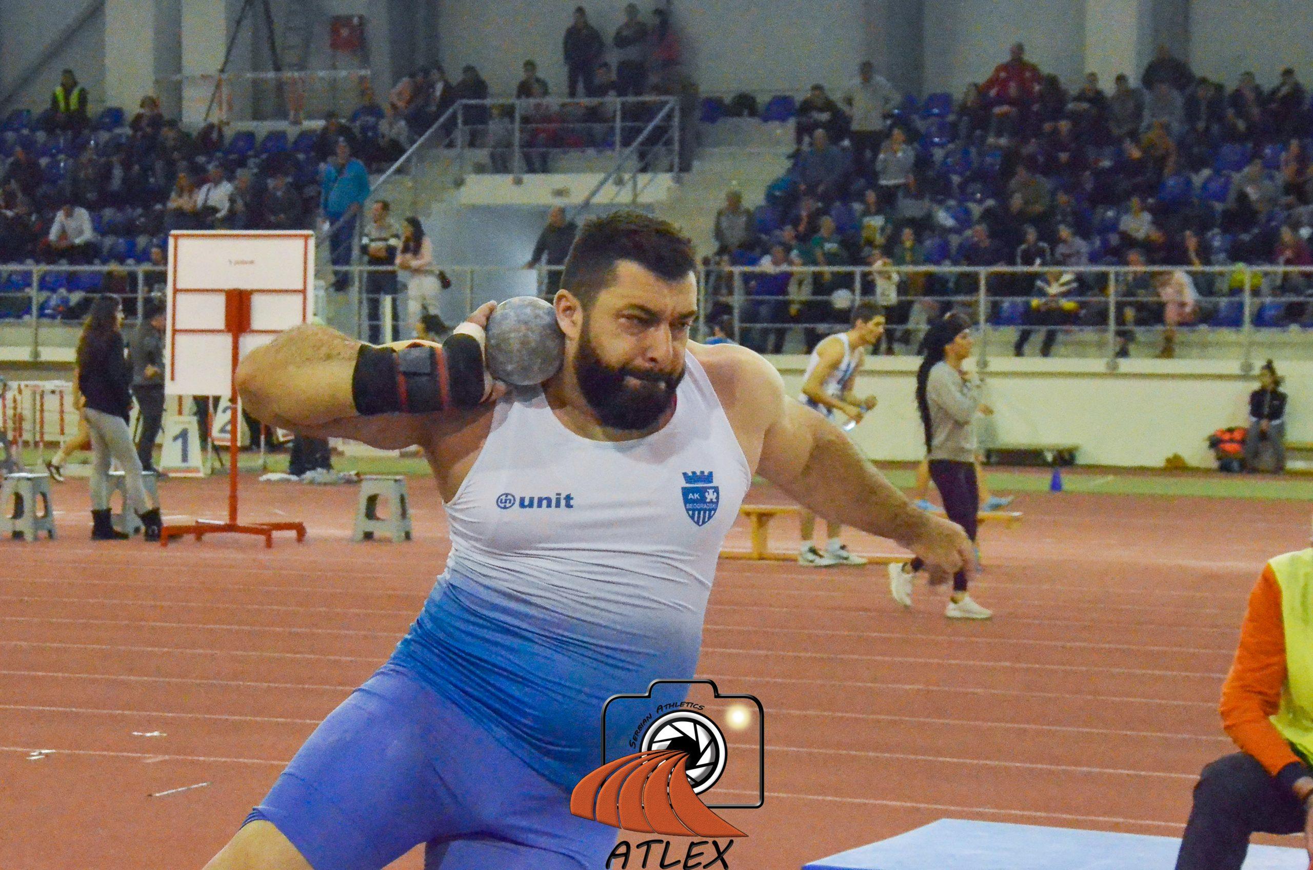 Asmir Kolašinac, dvoransko Prvenstvo Beograda 2020
