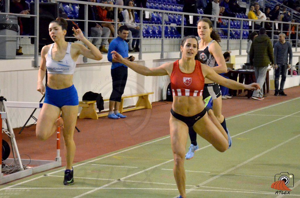 Milana Tirnanić, finale 200m na Prvenstvu Beograda u dvorani 2019
