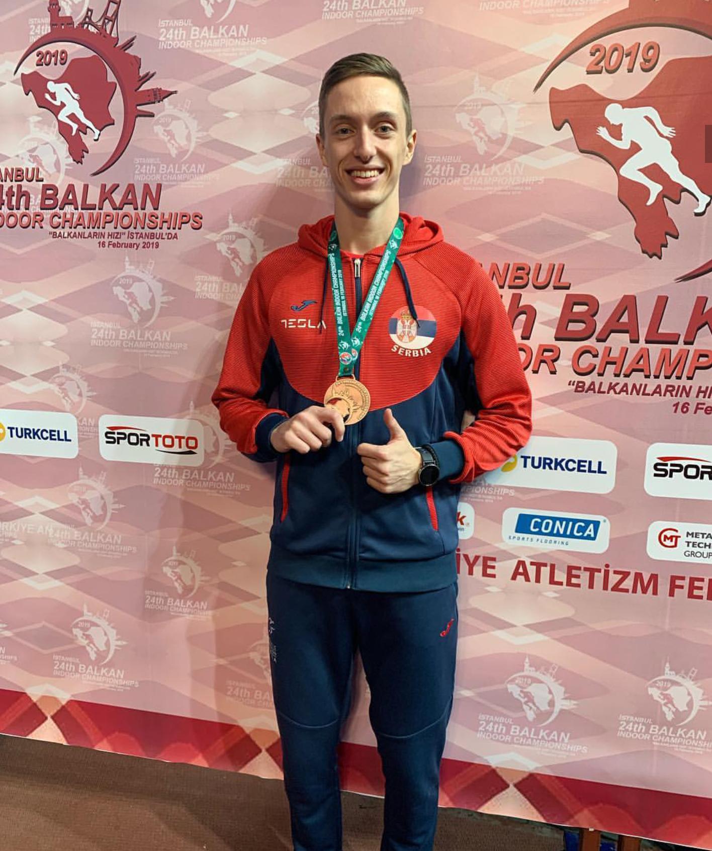 Aleksa Kijanović, srebrna medalja na dvoranskoj balkanijadi 2019