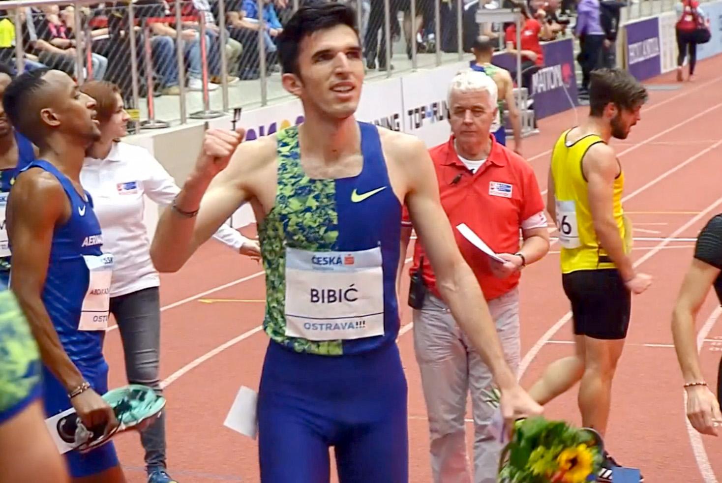 Elzan Bibić, Ostrava, dvoranski državni rekord 1500m