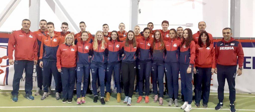 Juniorska reprezentacija Srbije za dvoransko prvenstvo Balkana 2019