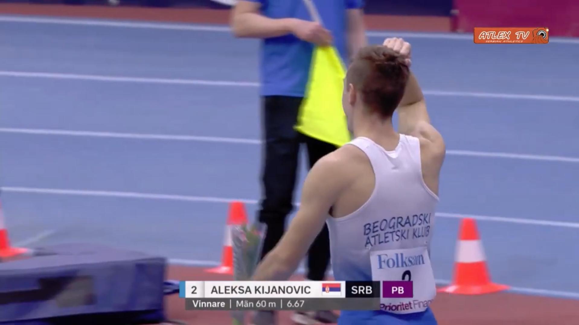 Aleksa Kijanović novi rekord Srbije na 60 metara