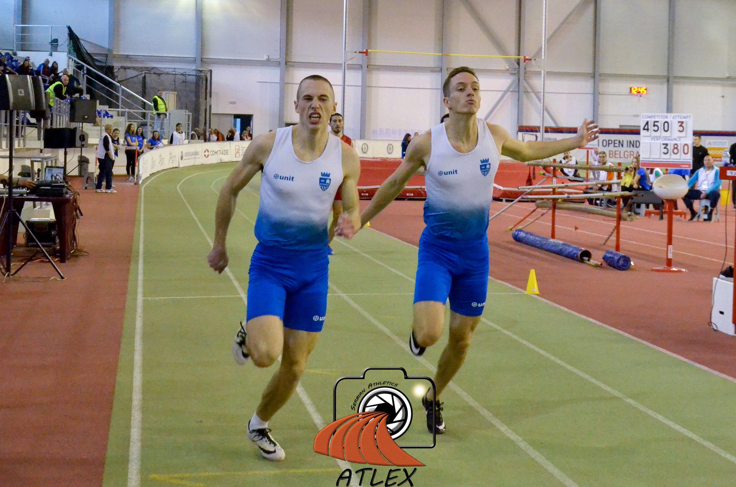 Aleksa Kijanović i Boško Kijanović, 200 metara, Dvoransko prvenstvo Srbije