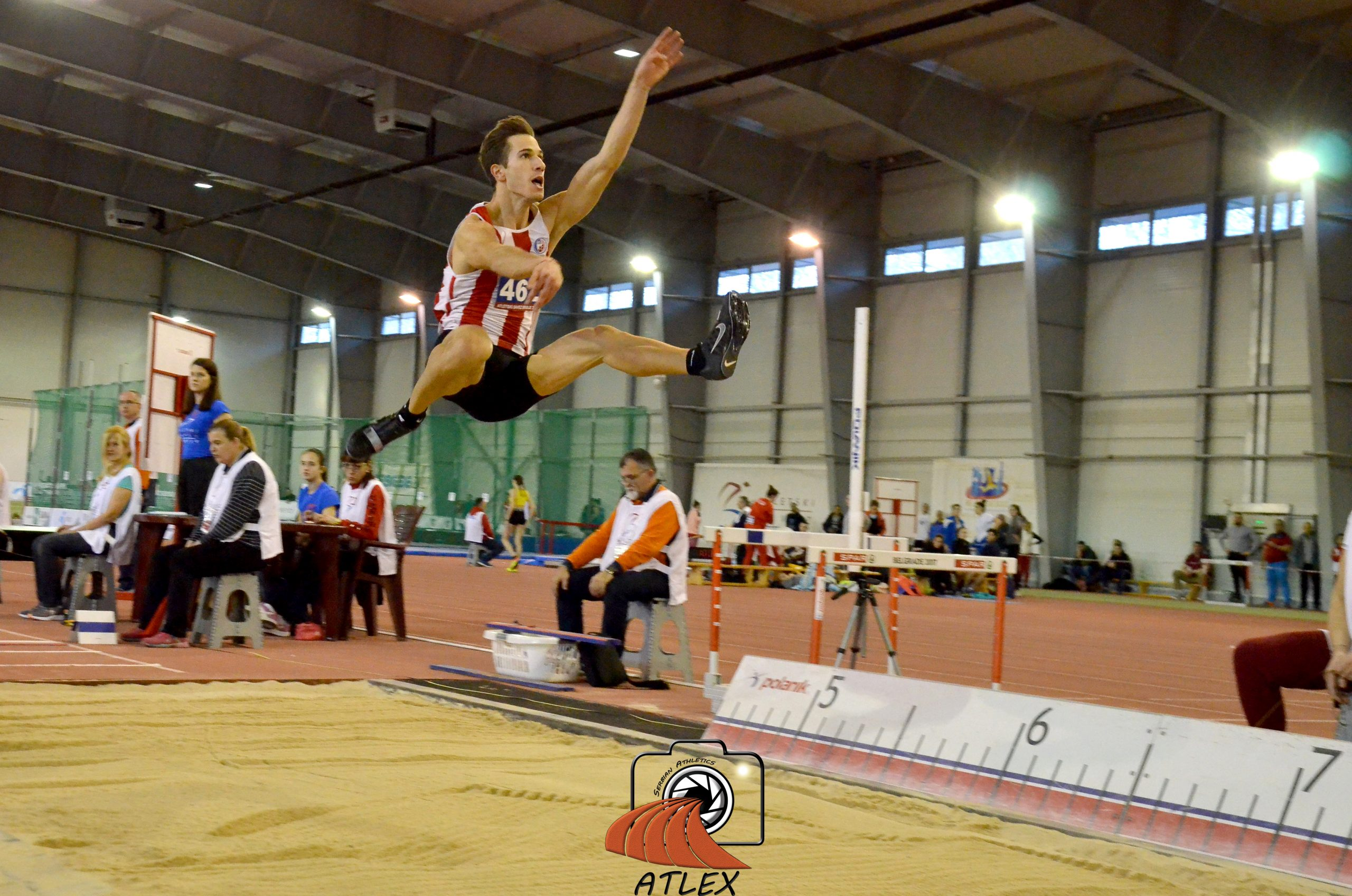 Strahinja Jovančević, skok udalj, Dvoransko prvenstvo Srbije