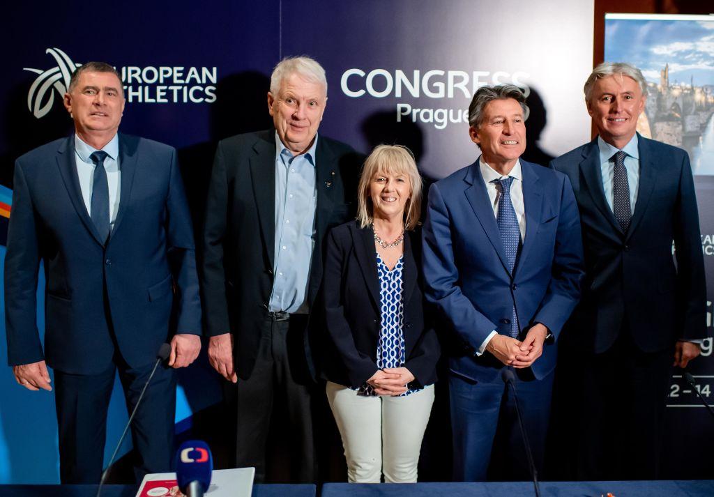 Čelnici Evropske atletike sa prvim čovekom Svetske atletike