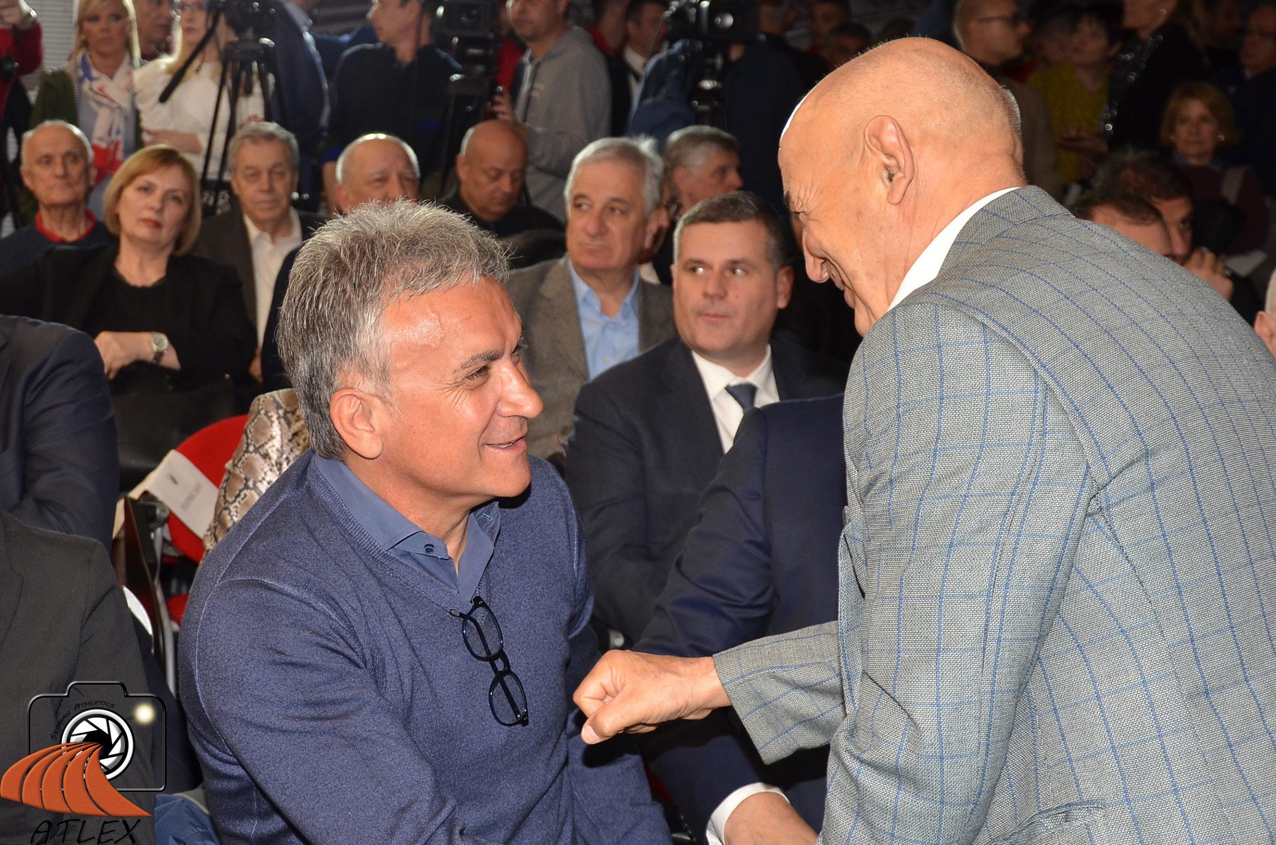 Dane Korica i Srđan Đoković, 75. rođendan SD Crvena zvezda