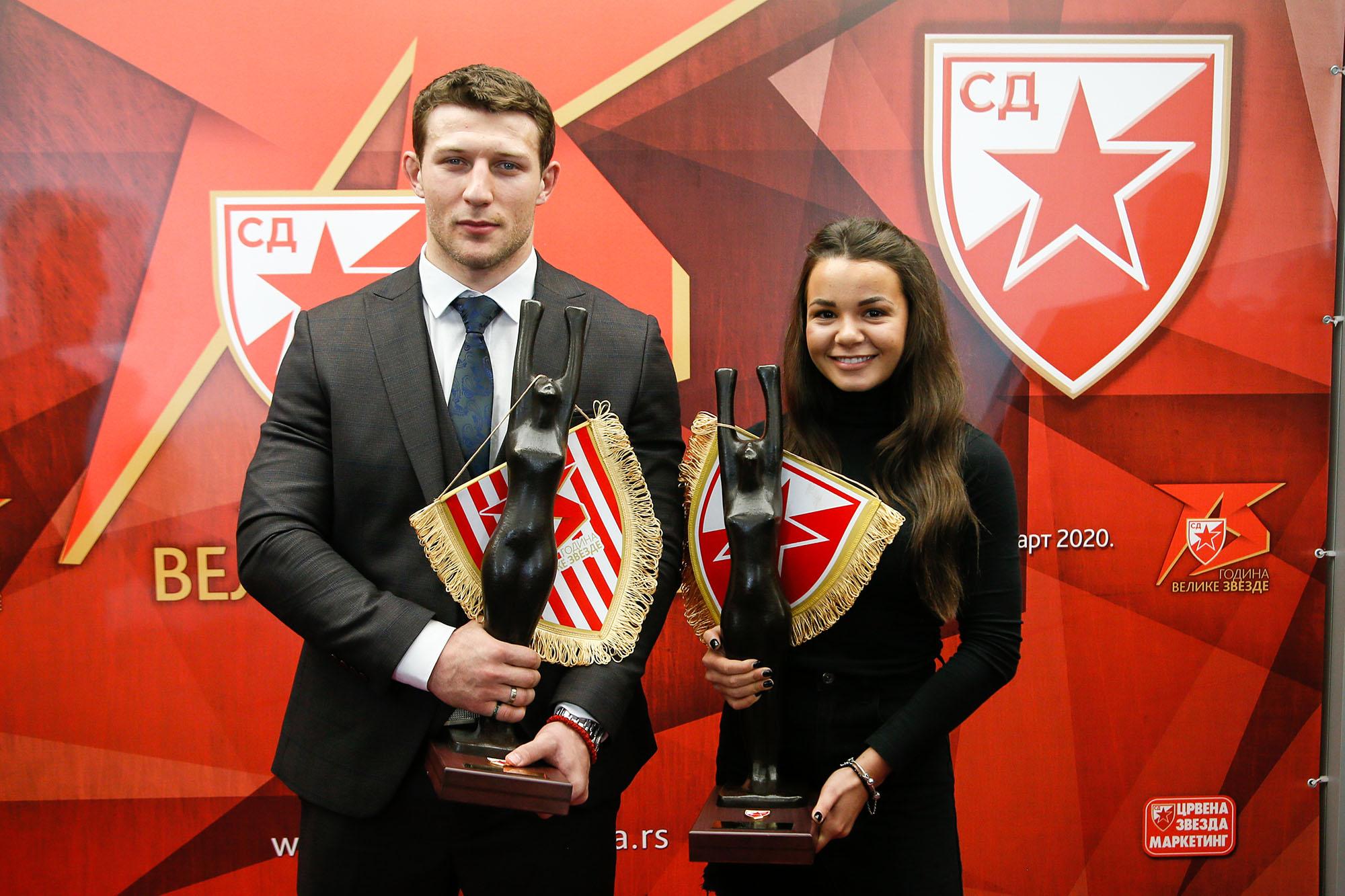 Nemanja Majdov i Saša Vejić, najbolji sportisti SD Crvena zvezda 2019