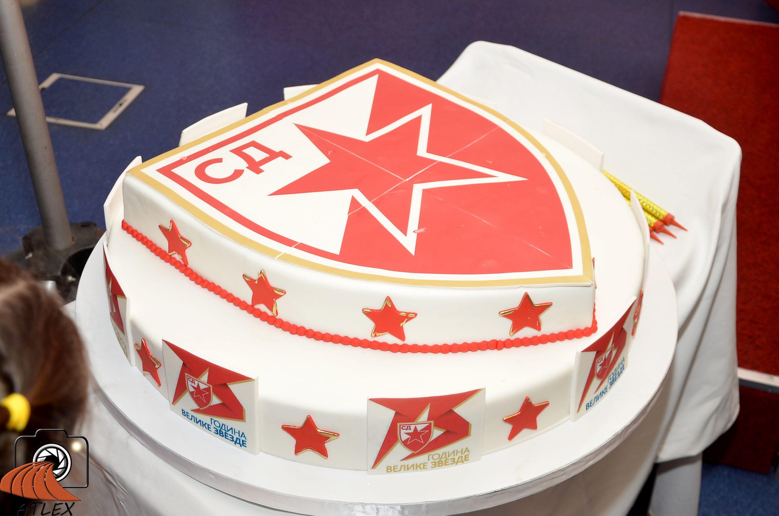 Torta za 75. rođendan SD Crvena zvezda