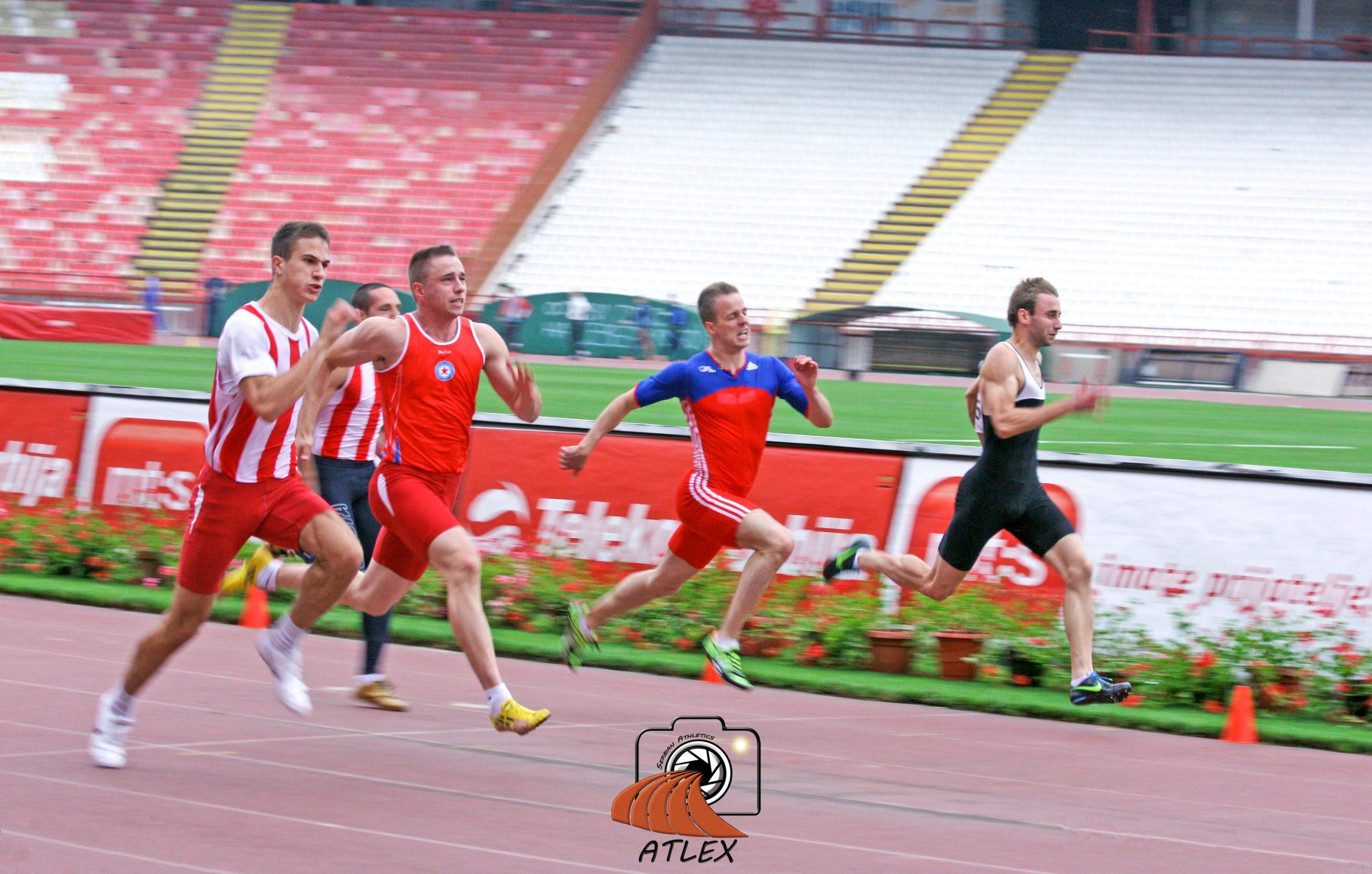 Strahinja Jovančević 100 metara, finale mozzart kupa Srbije 2014