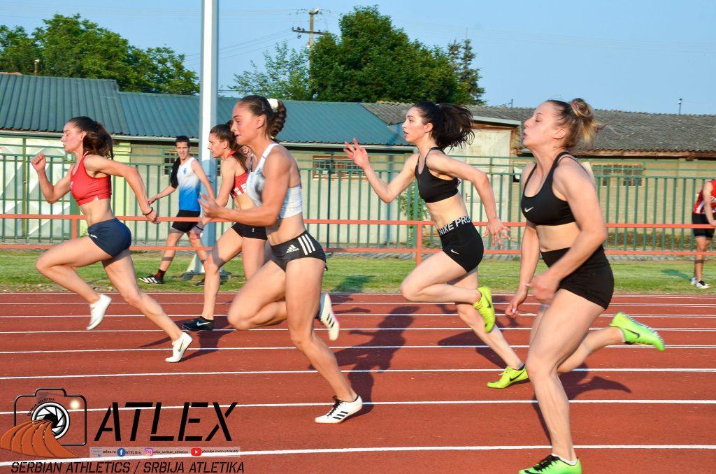100m devojke, Lukić, Emini, Atletski miting 2, 2020