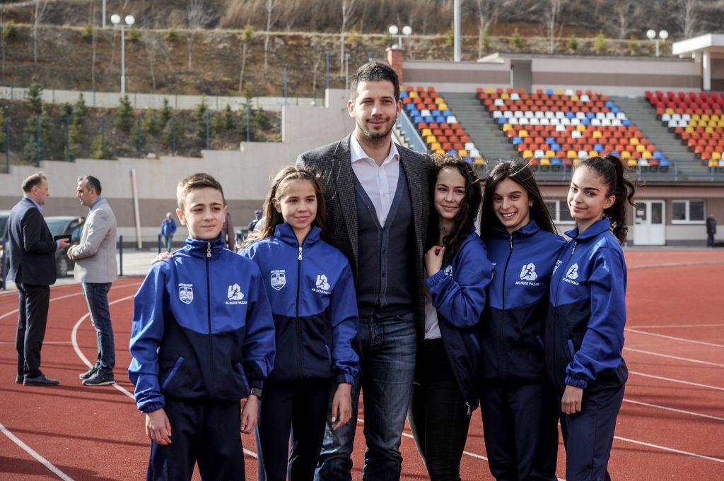 Vanja Udovičić na atletskom stadionu u Novom Pazaru