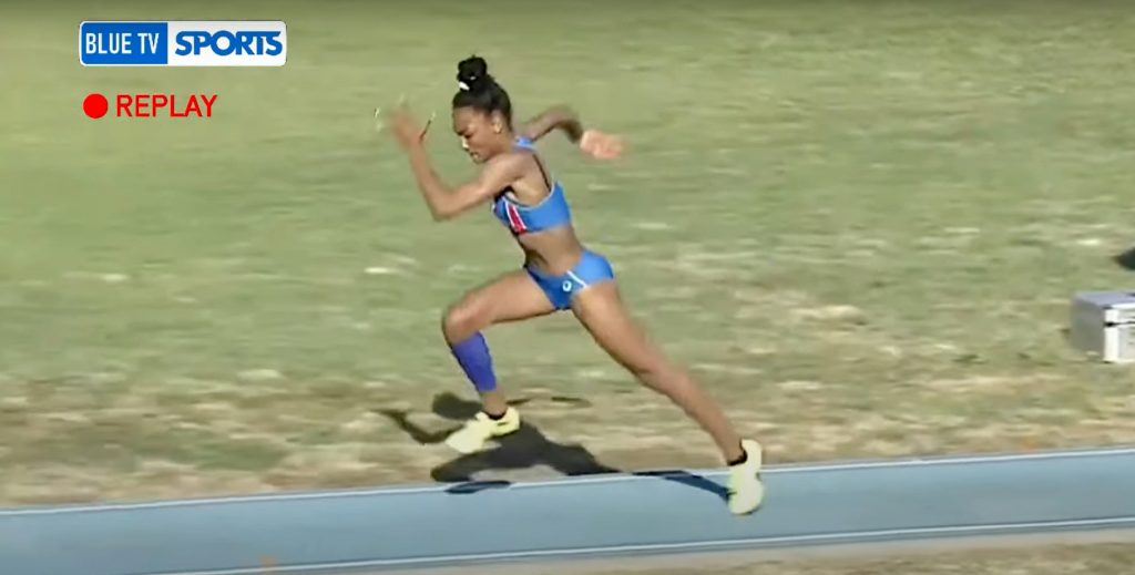 Larisa Iapičino, 6,80m skok udalj sa 18 godina