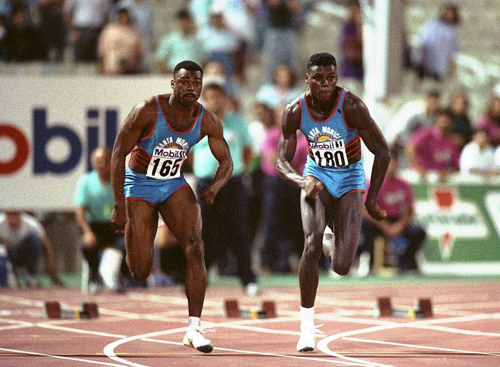 Leroj Burel i Karl Luis 1990