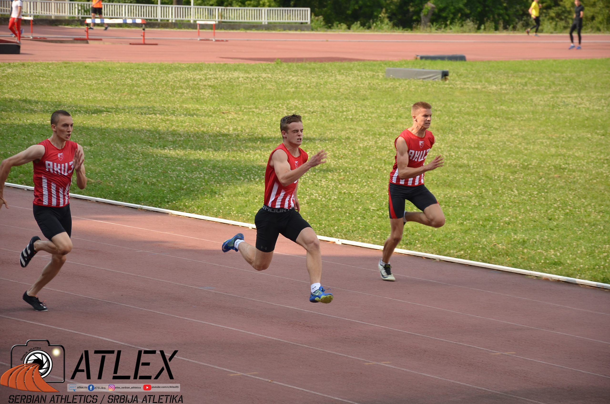Stefan Kaljuš, Stefan Mihajlov, Miloš Mijatović - 100 metara