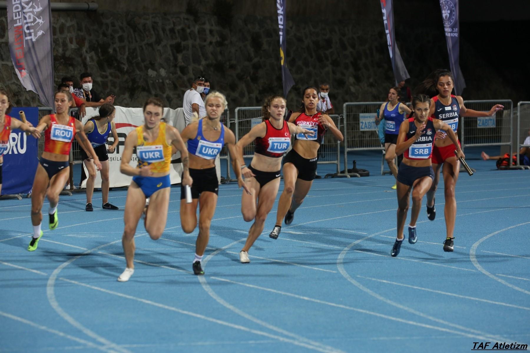 4x100m devojke, u20 Balkanijada 2020 - Ivana Ilić