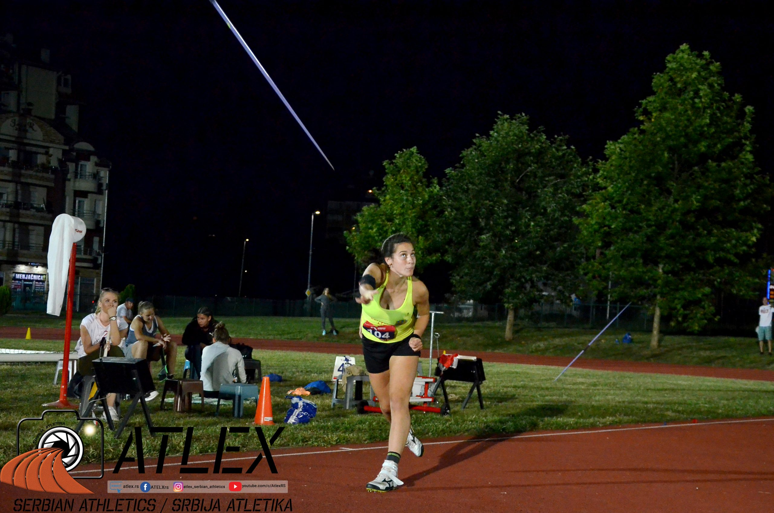 Adriana Vilagoš, juniorsko prvenstvo Srbije 2020, bacanje koplja
