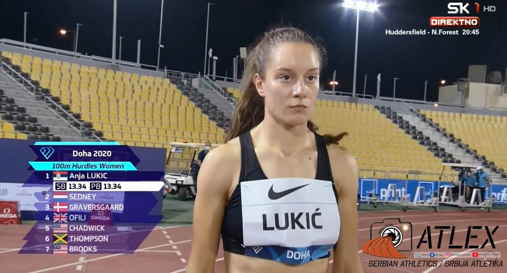 Anja Lukić - Dijamantska liga 2020, Doha