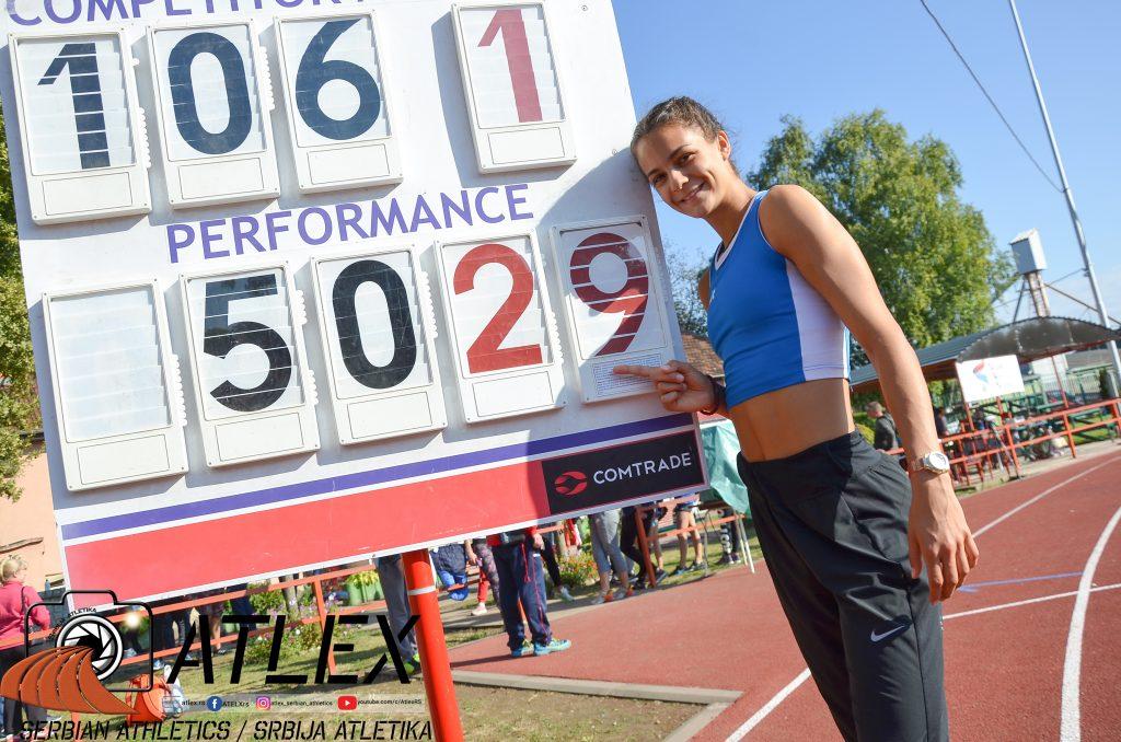 Marina Živković, nova juniorska rekorderka Srbije u višeboju 2020