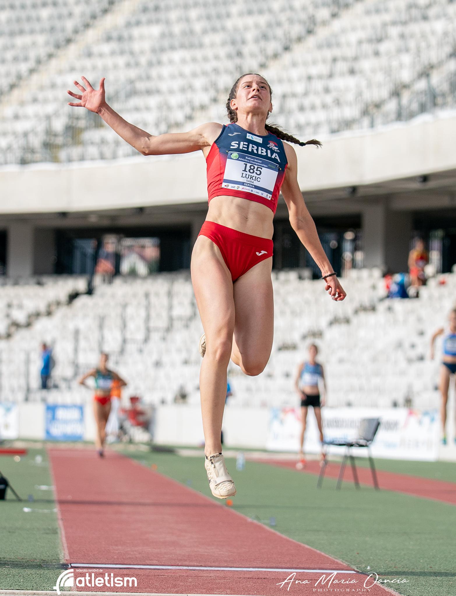 Sara Lukić, skok udalj, Balkanijada 2020
