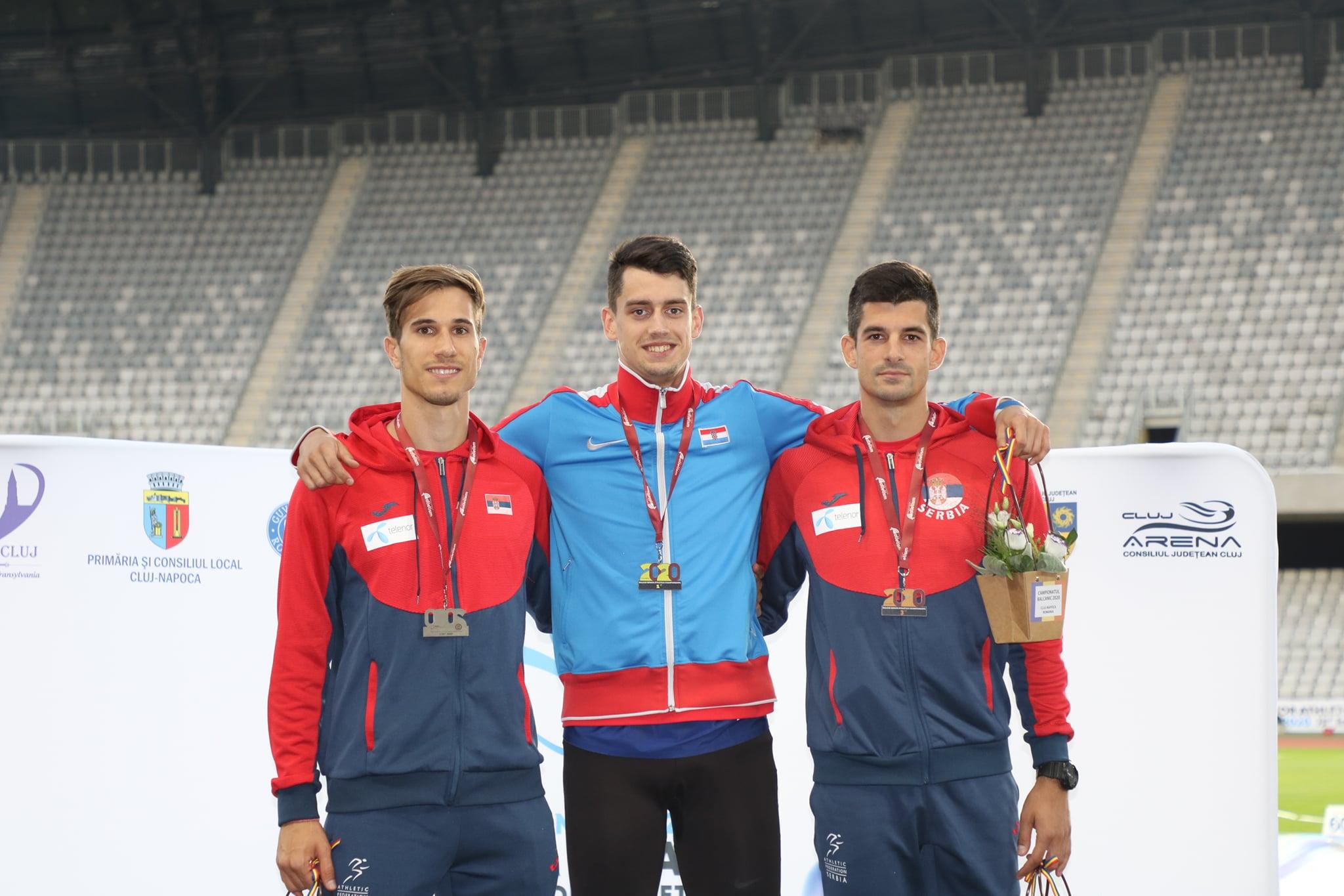 Strahinja Jovančević i Lazar Anić, srebrna i bronzana medalja skok udalj, Balkanijada 2020