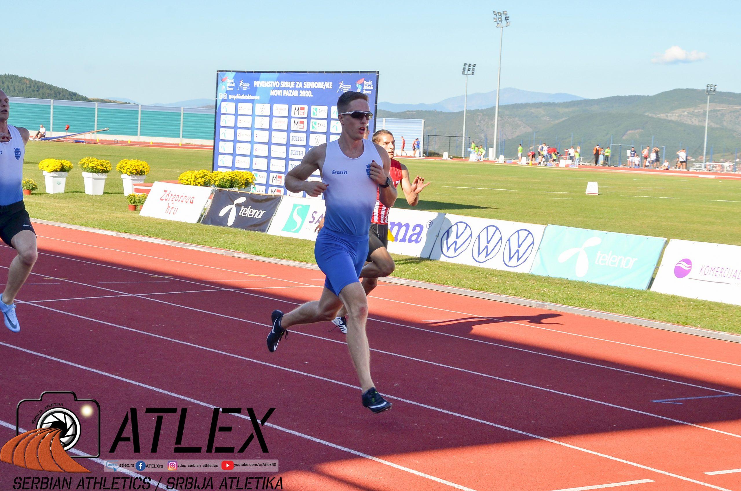 Aleksa Kijanović, sprint, Prvenstvo Srbije 2020