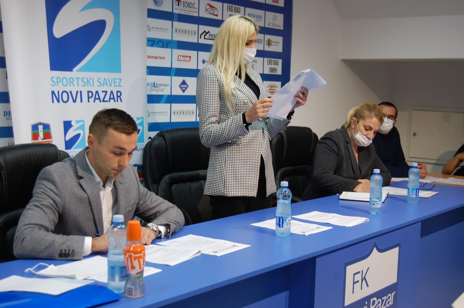 Amela Terzić,predsednica Sportskog saveza Novog Pazara, prvi sastanak