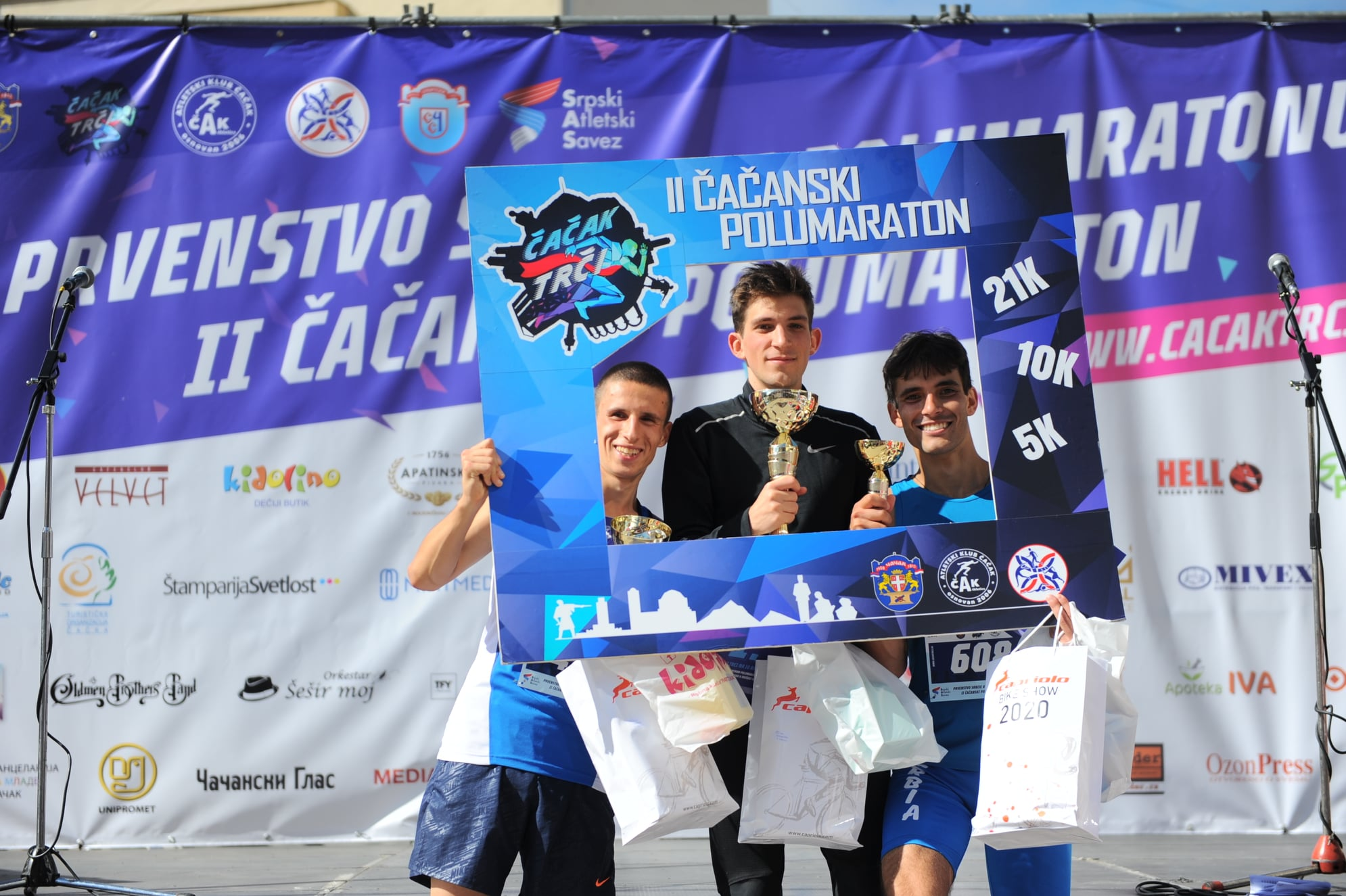 Čačanski polumaraton 2020, pobednici trke na 10km