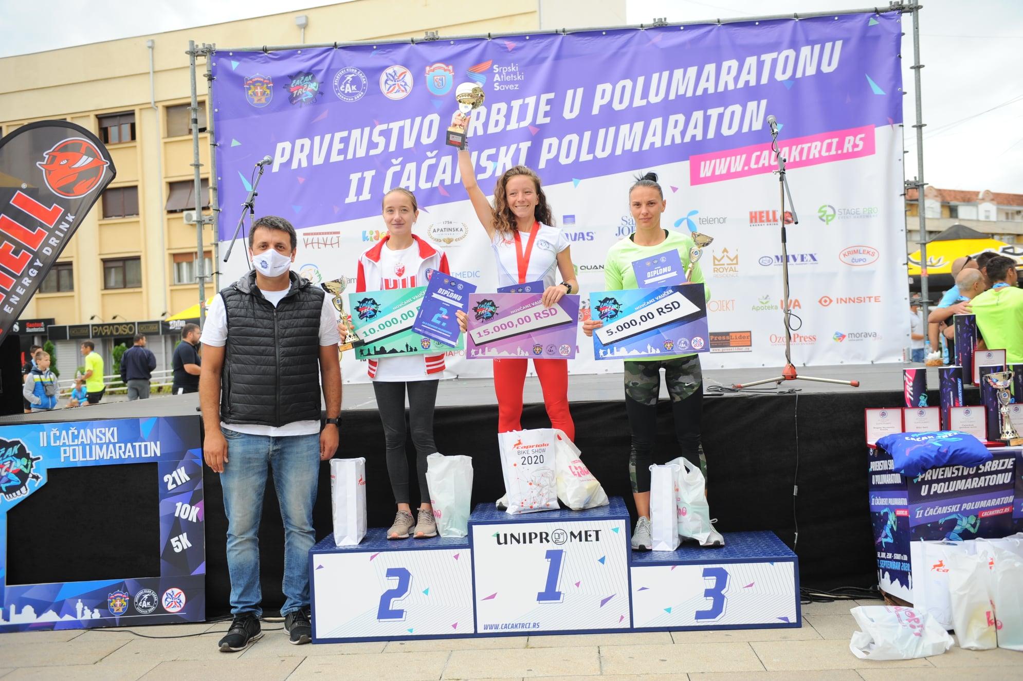 Prvenstvo Srbije u polumaratonu, Čačanski polumaraton, pobednice