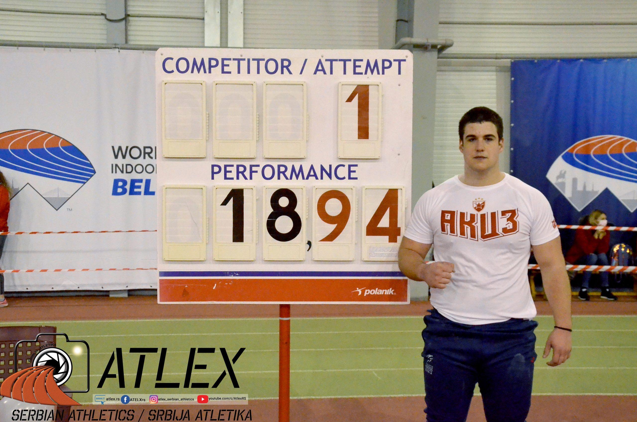 Veljko Nedeljković, lični rekord u baanju kugle, Novogodišnji miting Crvene zvezde 2020