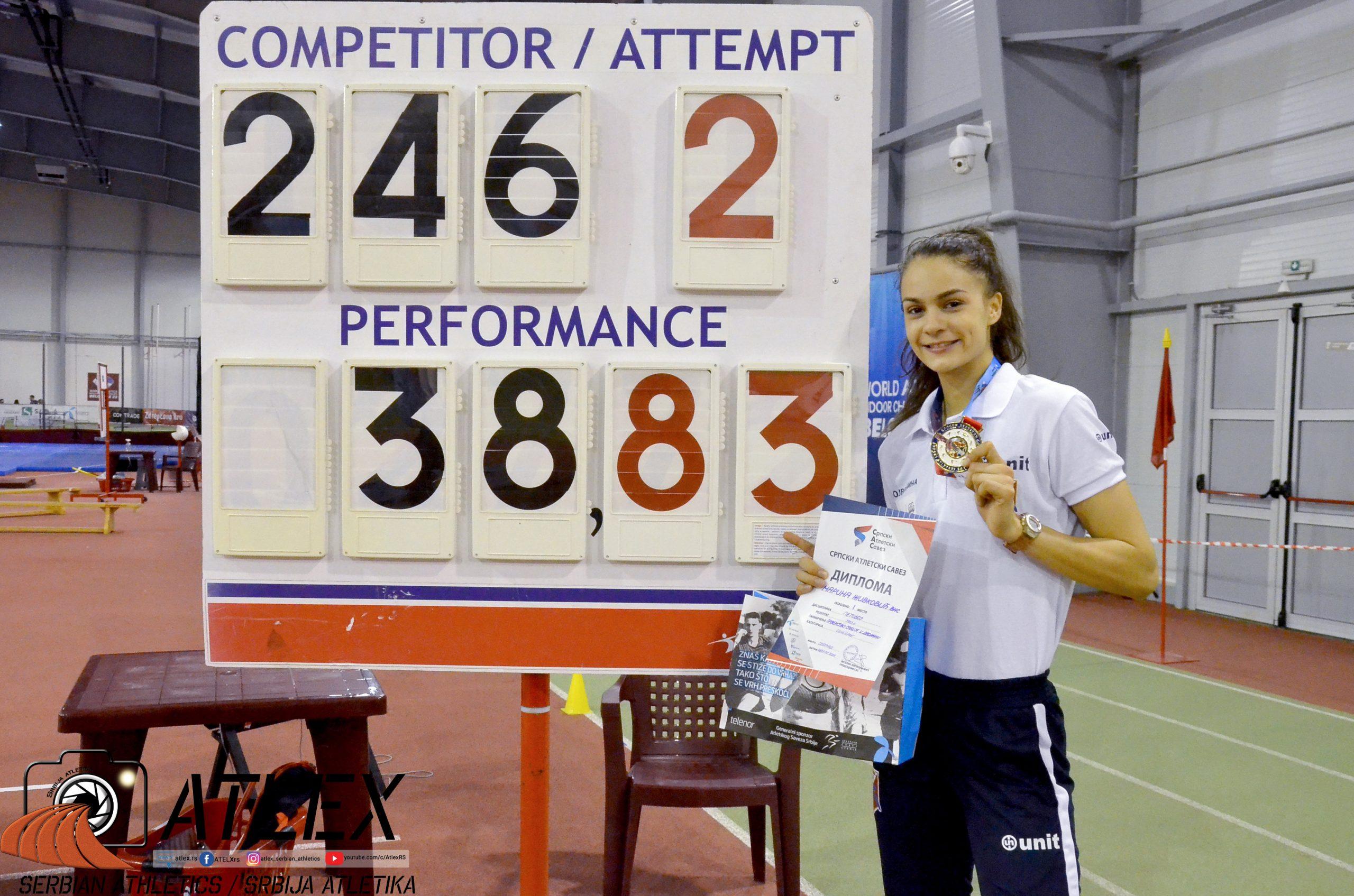 Marina Živković, u23 rekord Srbije u višeboju