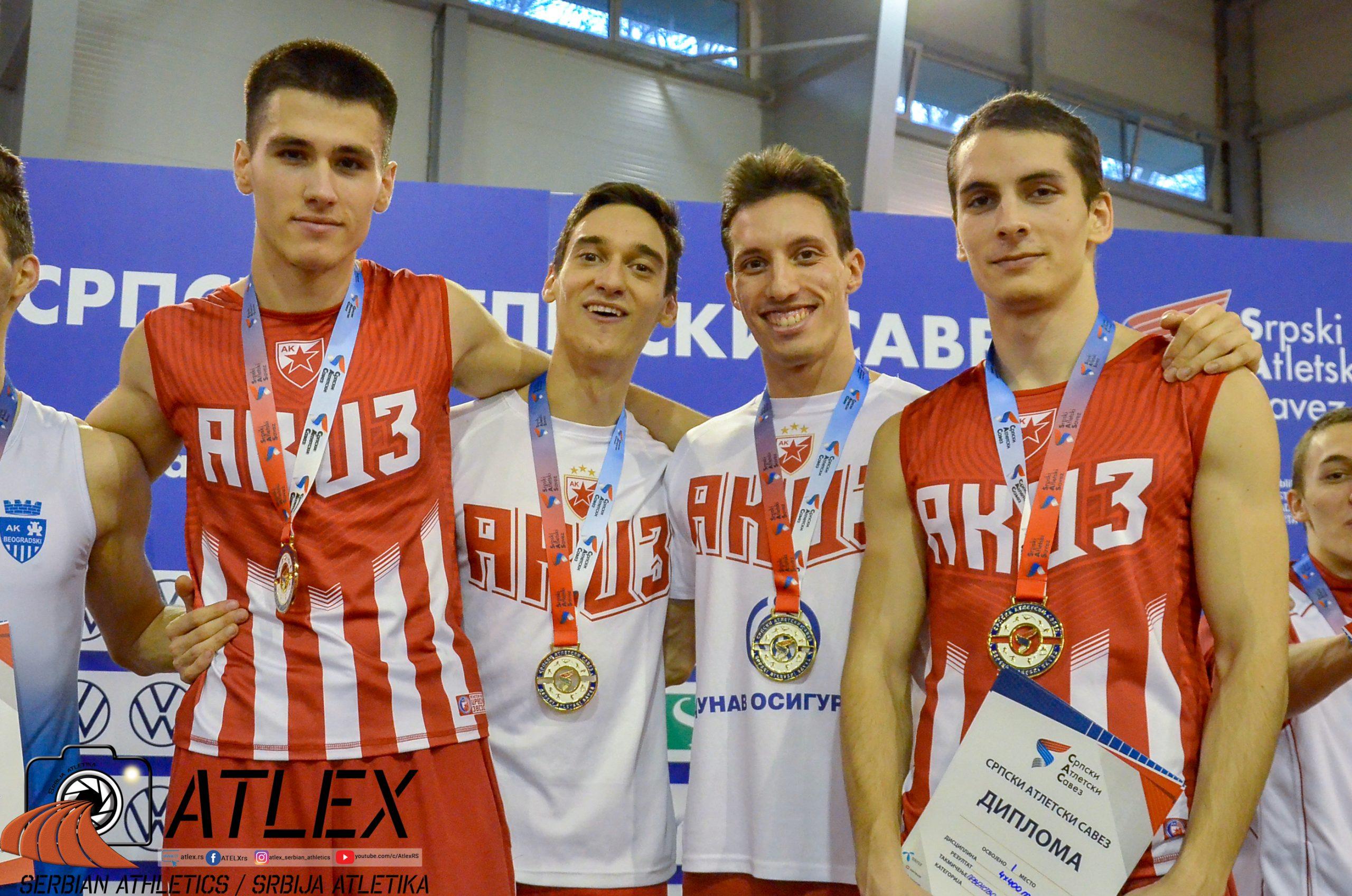 Olujić, Marković, Marković, Radojković, štafeta 4x400m državni rekord