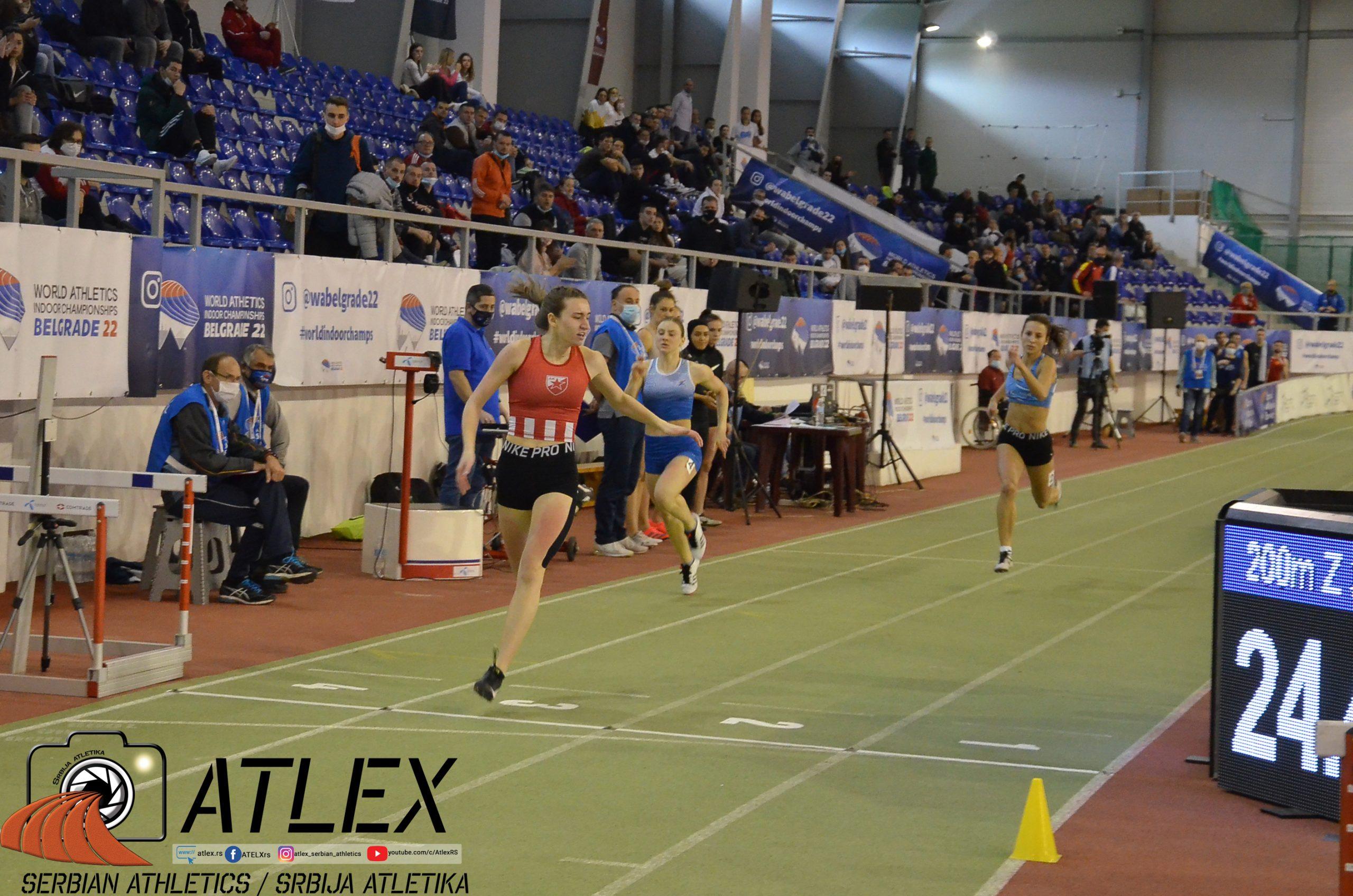 Tijana Japundžić, u20 rekord Srbije na 200m u dvorani