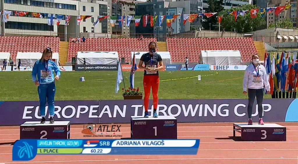 Adriana Vilagoš prvak Evrope u bacačkim disciplinama 2021, U23 bacanje koplja