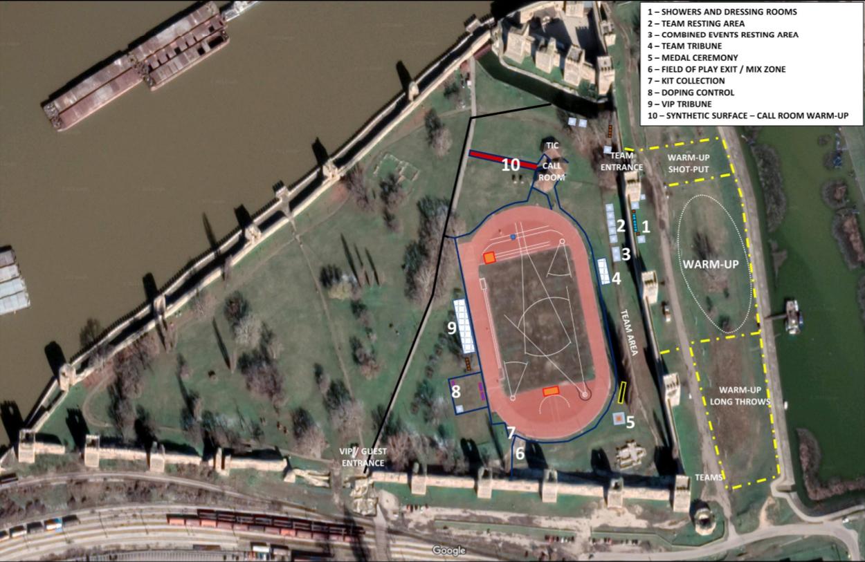 Balkanijada 2021 - izgled stadiona u Smederevu