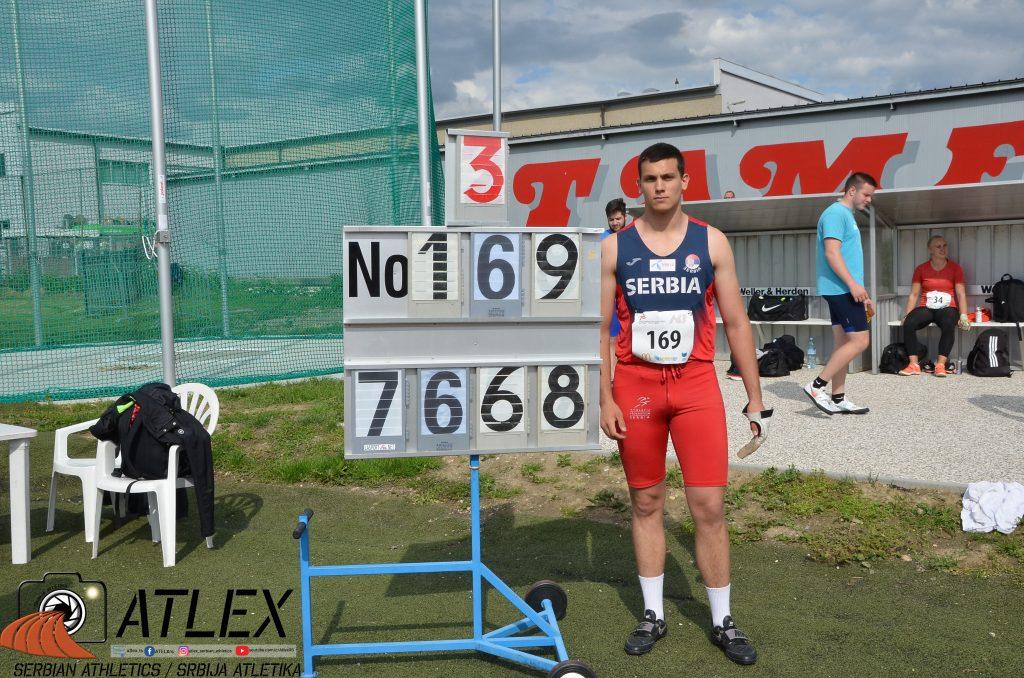 Jovan Stranić, novi U18 državni rekord