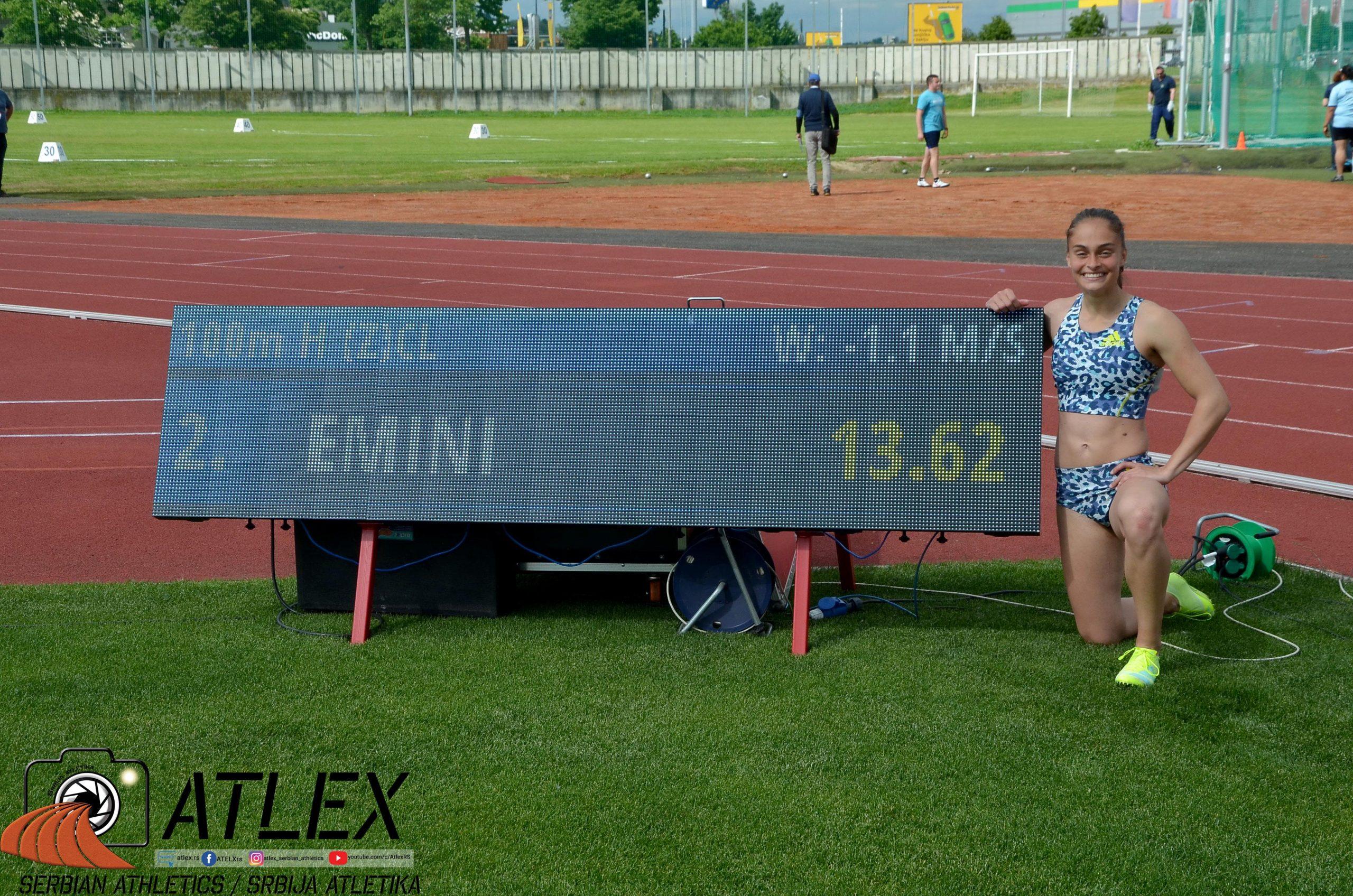 Milica Emini, novi lični rekord